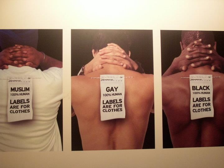 Labels are for Clothes - 100% Human -  against #discrimination