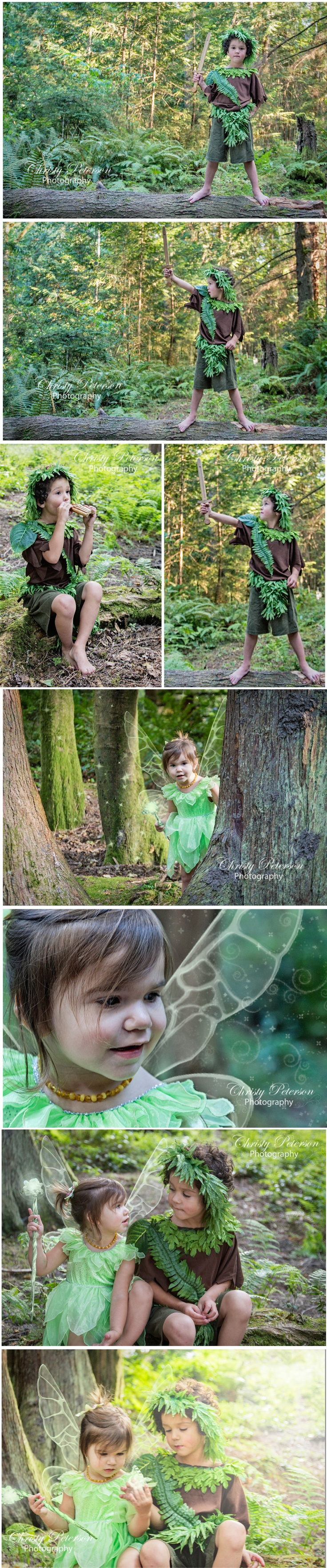 Peter Pan and Tinkerbell Photography Session Christypetersonphotography.com