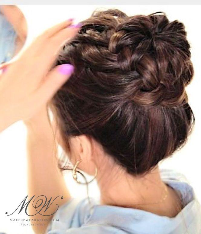 Cute Starburst Braid Bun Tutorial   Fall Hairstyles