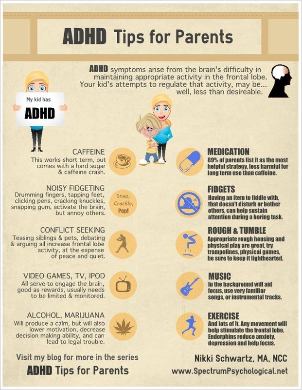 ADHD Tips for Parents - Spectrum Psychological Services - Counseling & Neurofeedback in Virginia Beach