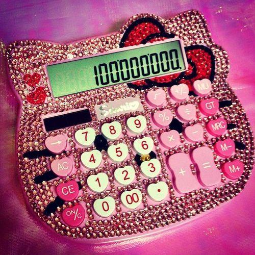 hello kitty calculator pink - hello kitty calculadora rosa ♛