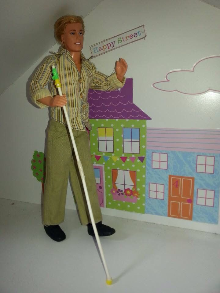 Ken Doll With Long White Cane Orientation Amp Mobility