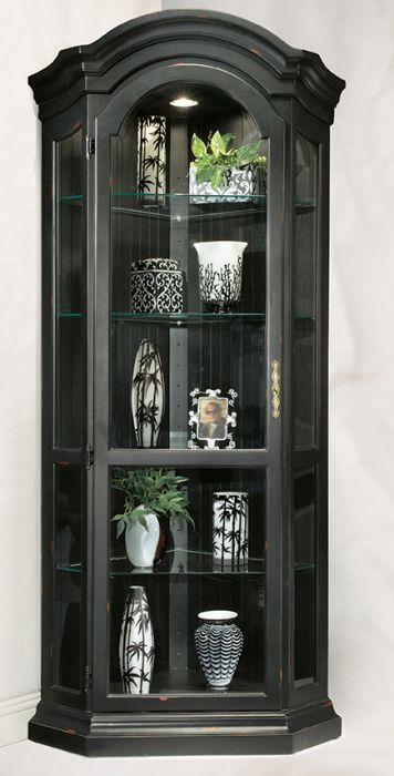 Panorama Corner Display Cabinet - Black | Philip Reinisch | Home Gallery Stores