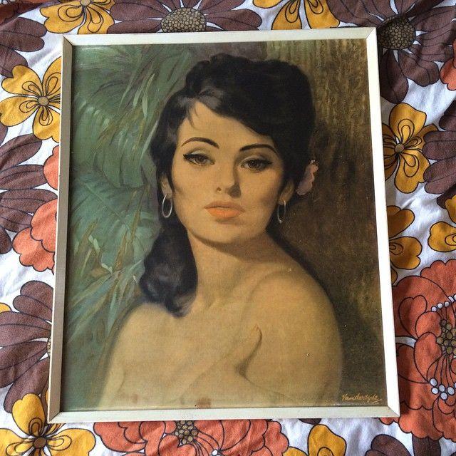Look who'll be available on my website very soon! Ahhh Nina  #BuckleAndFawn #VanDerSyde #retro #retrohome #retroart #ninaprint #vandersydeNina #retroprint #kitsch #kitschhome #vintage #vintagehome #vintageart #kitschart #massmarketart #onthewall #art #60s #70s #midcentury #midcenturyart #1960s #1970s