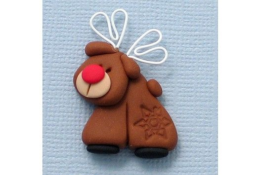 Fimo Rudolph - make this embellishment for Dec Daily? Think about...