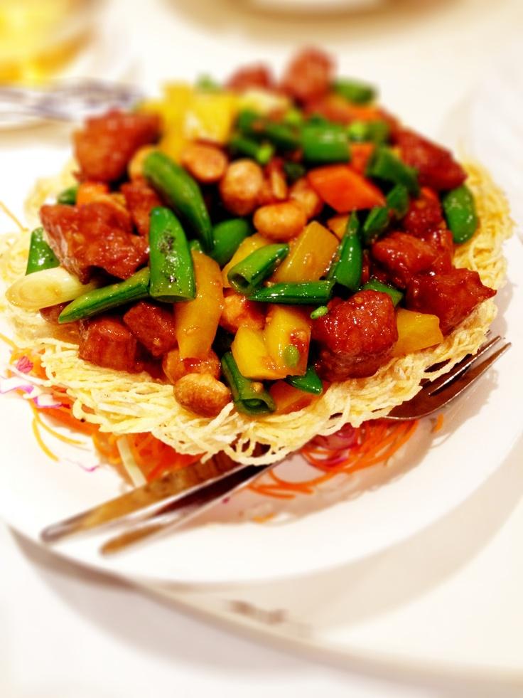 Stir Fry Beef with Seasonal Vegies @ Golden Globe Chinese Restaurant