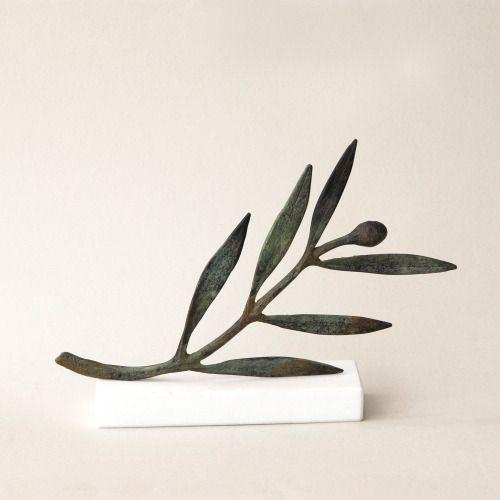 Bronze Sculpture, Olive branch, Metal Art Sculpture, Museum Quality Art, Greek Art, Olive Sculpture, Goddess Athena Symbol, Greece