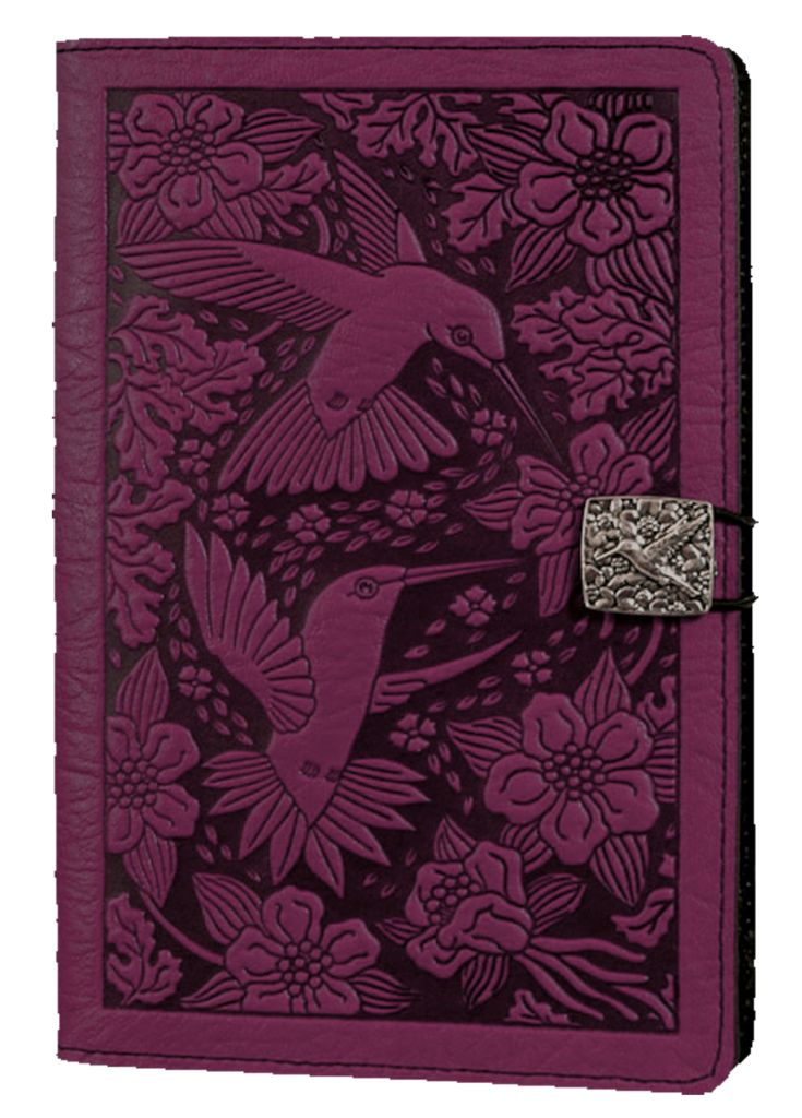 Leather Kindle Fire Covers and Cases | Hummingbird in Orchid