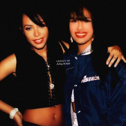 Aaliyah and Selena, beautiful angels! Love them both so much!  ♥
