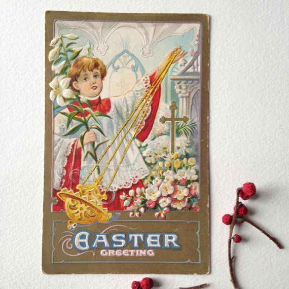 Hey, I found this really awesome Etsy listing at https://www.etsy.com/listing/270945202/antique-easter-postcard-easter-greeting