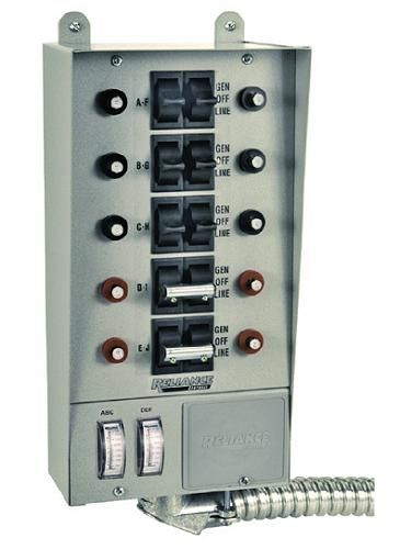Manual Transfer Switch Kit For Generators Up To 7500 Watts Pictures