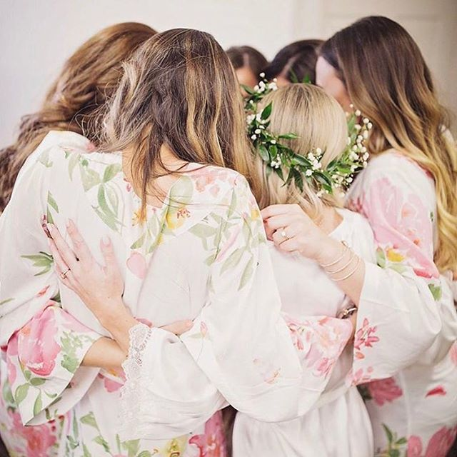 Moments with your squad, In Persimmon robes from Plum Pretty Sugar. Pieces to enjoy again and again... long after the wedding. A pretty, pretty keepsake.