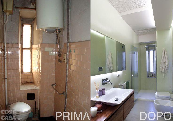 """Soluzioni intelligenti valorizzano gli interni di un edificio d'epoca.  Nei diversi ambienti le nicchie diventano vani contenitori e angoli  attrezzati, mentre un camino """"ecologico"""" cambia look al soggiorno."""