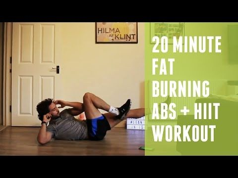 20 Minute Fat Burning HIIT & Abs Workout | Home HIIT - YouTube