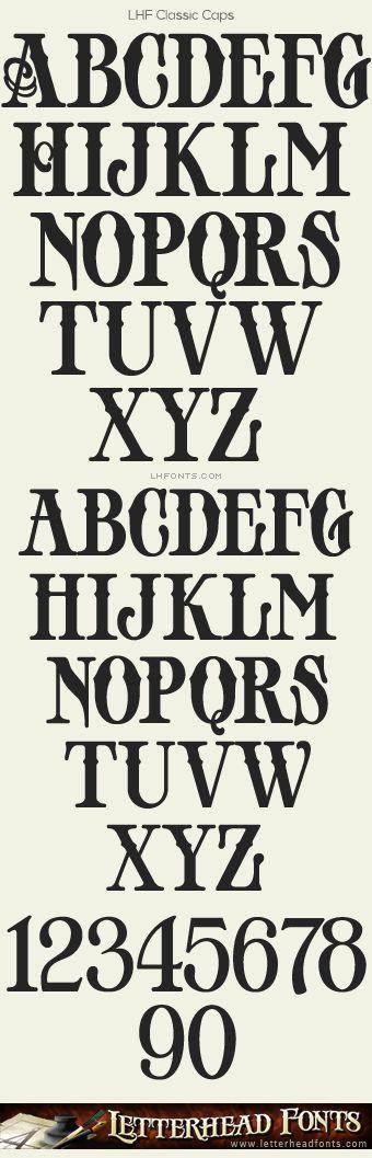 Letterhead Fonts / LHF Classic Caps font / Old Fashioned Fonts