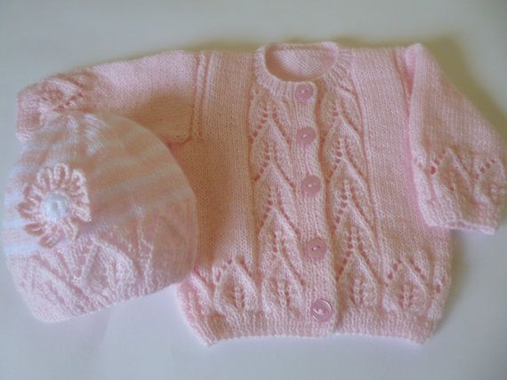 Knitted Baby Clothing, Newborn Sweater and Hat Set, Newborn Sweater and Bonnet…