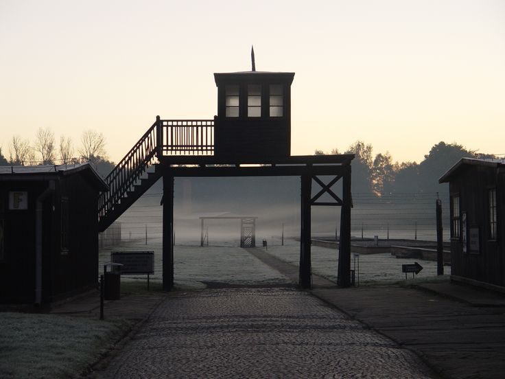 Stutthof Museum. The Death Gate leading to the former Stutthof Camp . Private guided tours with pick up in Gdansk . More details available www.trip2gdansk.pl To book your private tour write info@trip2gda