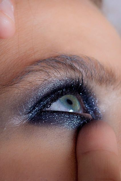 photo by marcelle fivaz Metallic touch Make up by Panos Kallitsis