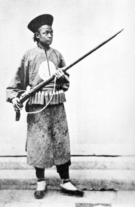 Soldier of the Qing Empire during Taiping rebellion