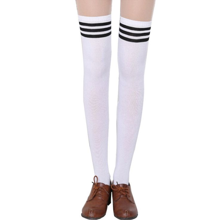 Thigh High Sexy Cotton Stocking Striped Over Knee Girl Lady Stockings