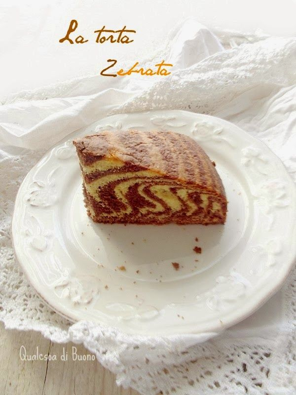 QualcosaDiBuono: La torta a strisce di mamma, ovvero la torta zebra...