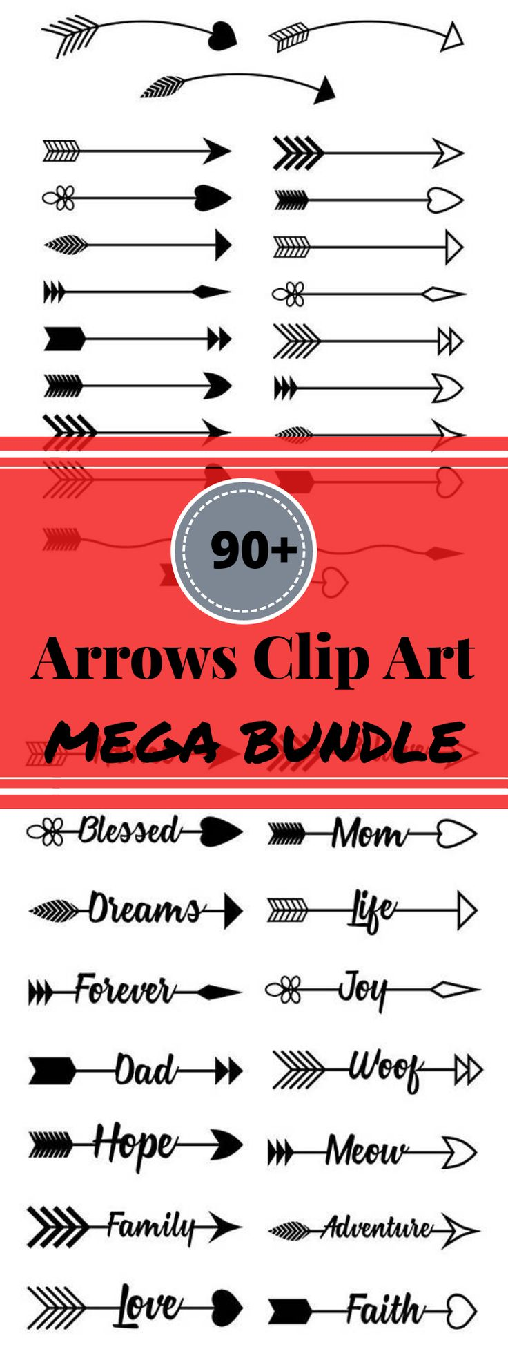 93 arrow vector clipart images (black rustic and colorful tribal / boho) for personal and commercial use! These arrows come in a variety of styles and colors for ultimate versatility in your projects. Use them in DIY wedding invitations, printable wall art, bullet journals, handmade cards, scrapbooking, or as blog graphics! Tribal Arrow Clipart, Rustic Arrow Clipart, Arrow SVG, Vector Arrows, Arrow Wreath Clipart, Commercial Use #clipart #png #ad #graphics #printable #bulletjournals #etsy