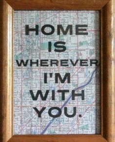 romantic valentine gifts home is wherever im with you map artwork print by wanderlust print co etsy id like it more if the frame were painted in a