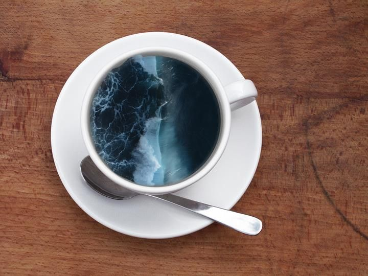 A cup of sea #CoffeCupManipulation