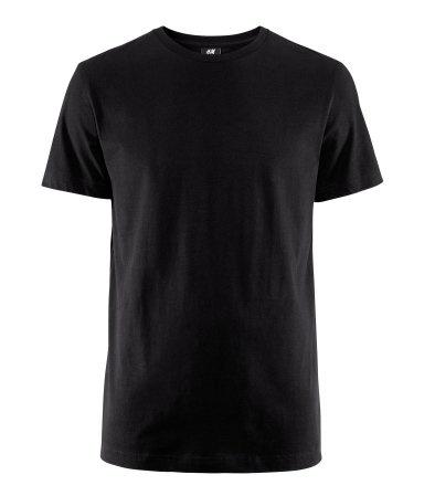 Product Detail   H FI. Tavalliset mustat T-paidat, koko L