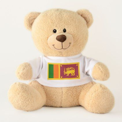 Sri Lanka flag Teddy Bear  $42.17  by AwesomeFlags  - custom gift idea