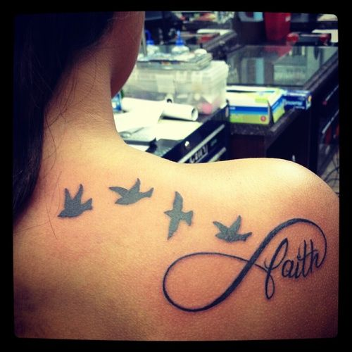 Birds in Flight with an Infinity symbol