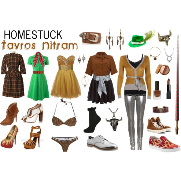 Homestuck Fashion: Tavros Nitram by khainsaw on Polyvore