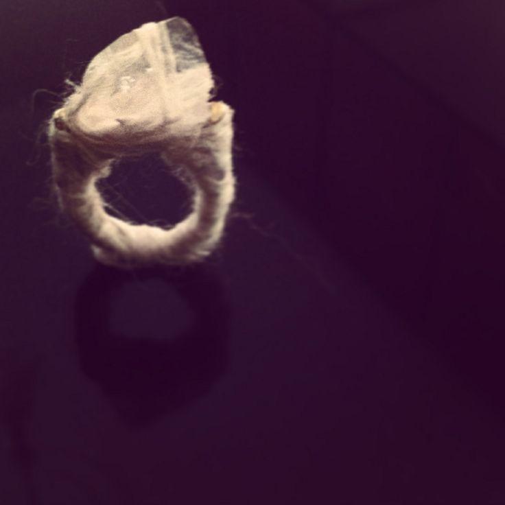 """Spiritual"" by Merve Özdemir  Ring: 2013 / Quarz Crystal, Silk Unique Hand-made Design"