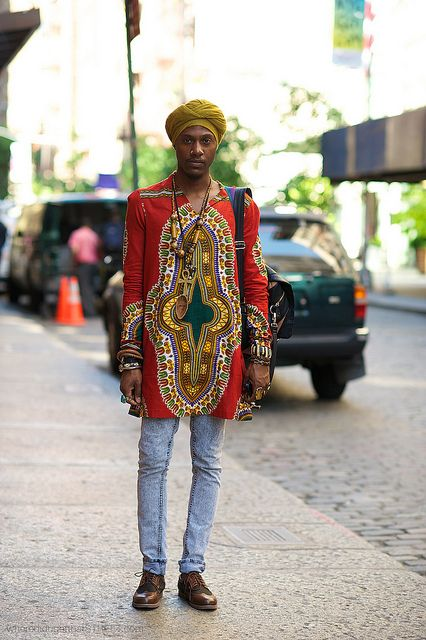 Tribal Prints. I'm digging his style!