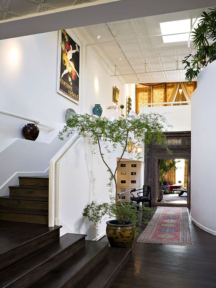 Stairs, New York Cities, Hallways, Open Spaces, Interiors, House, Dreams Gardens, Roof Gardens, Private Gardens