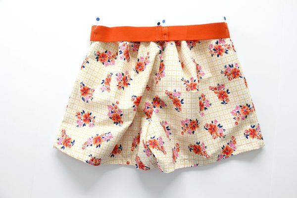 Sew waistband to shorts.