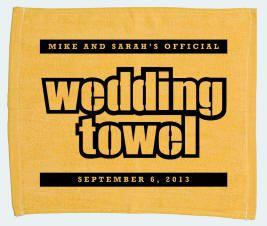 Wedding Terrible Towels - custom silkscreening and design