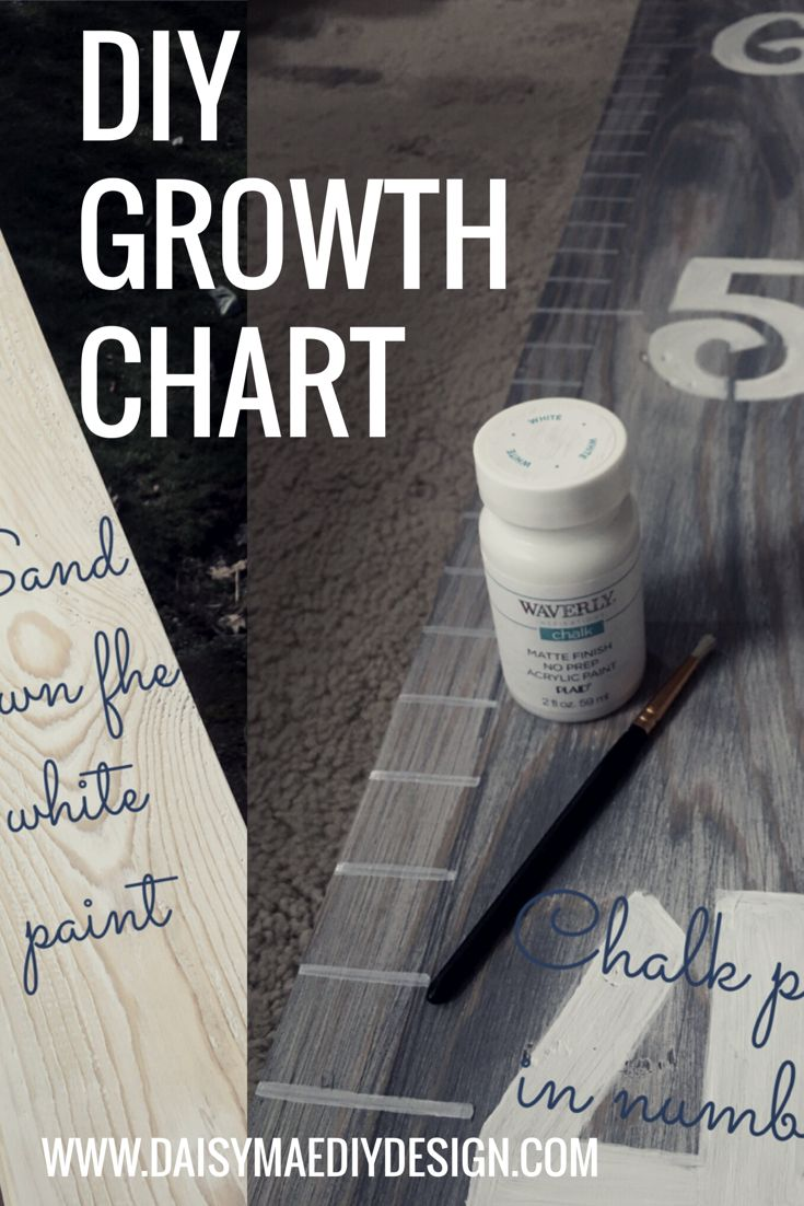DIY distressed wooden children's growth chart how to on a budget to match a rustic decor. Farmhouse design decor rehab on budget