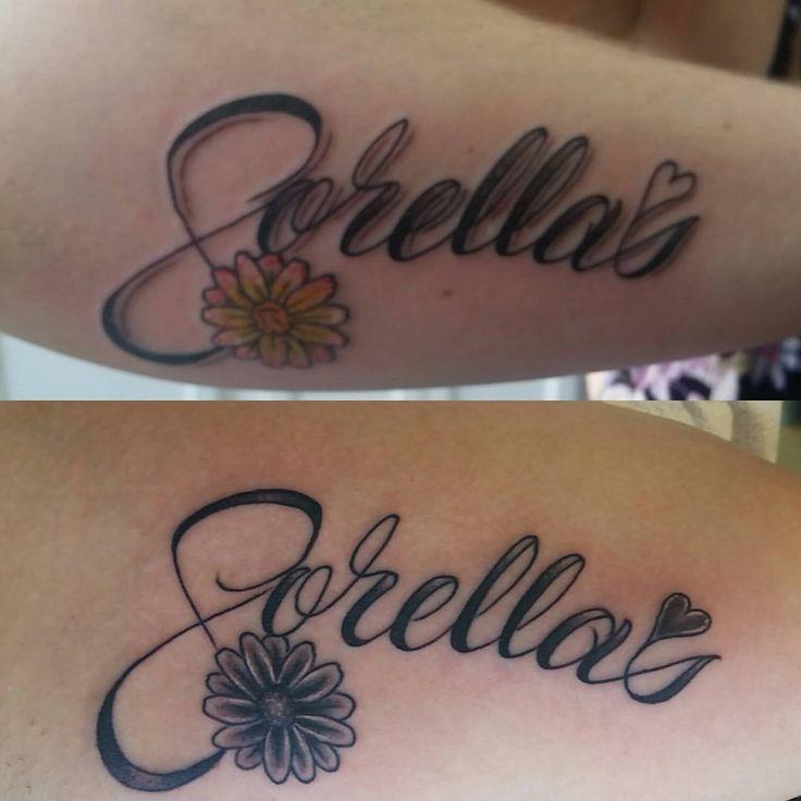 Sorellas matching sisters tattoos sisters in italian - Tatouage de soeur ...