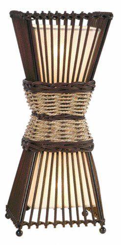 Awesome Nino Leuchten Tischleuchte Bamboo H he cm Bambus Korbgeflecht innenliegender Stoffschirm