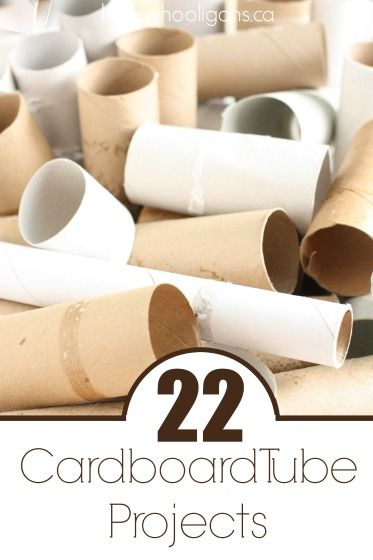 22 Things to make with cardboard tubes. Lots of crafts and activities with toilet paper rolls, kitchen rolls, wrapping paper tubes, mailing tubes etc.