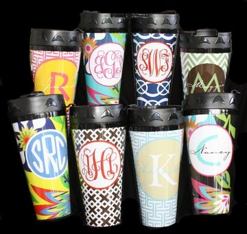 Stay warm in style with a custom thermal travel mug by HH Design House!