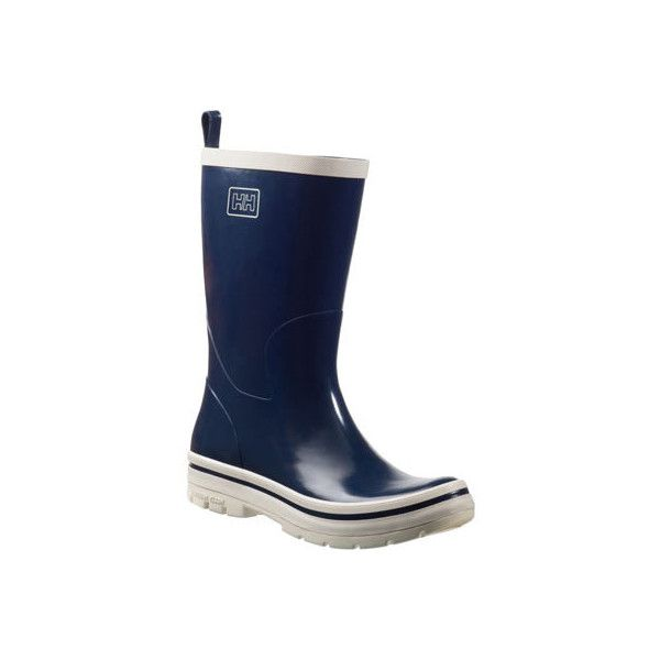 Women's Helly Hansen Midsund 2 Boot - Tech Navy/Off White Casual ($60) ❤ liked on Polyvore featuring shoes, boots, casual, wellington boots, rubber boots, navy blue shoes, helly hansen shoes, off white shoes and helly hansen boots