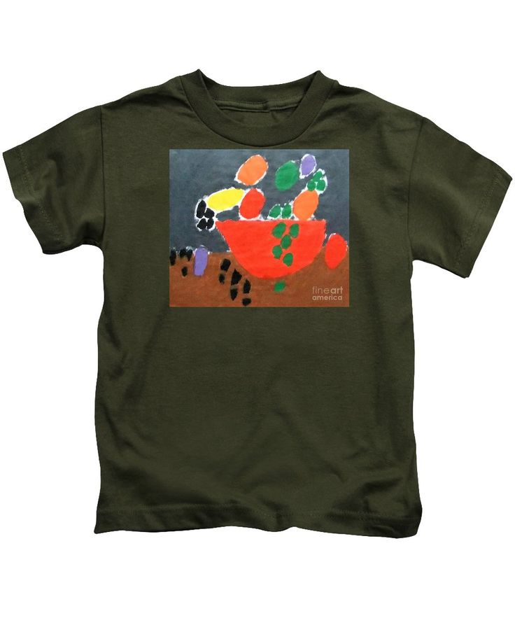 Patrick Francis Kids T-Shirt featuring the painting Bowl Of Fruit 2014 by Patrick Francis