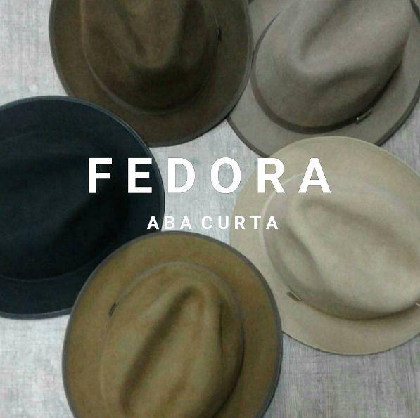 Chapéu Fedora Aba Curta Premium Hats  De R$219 por R$158 Frete Grátis Brasil  Cores: Preto, marrom, bege, caramelo e caqui Tamanhos: P ao GG Diferencial: Feito em Lã nobre 100% Européia, debrum na aba, Copa e Aba Estruturada, Acabamento Premium.  Um Chapéu Versátil e divertido que combina facilmente com diversos Looks, a aba pode ser usada pra cima ou pra baixo.  Compre o seu! www.chapeueestilo.com.br/premiumhats