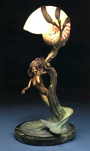 "Mermaid and Nautilus Shell Lamp! - ""Fantasea"""