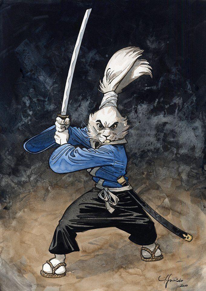 Usagi Yojimbo by Juanjo Guarnido * from TMNT. This guy here is how the clan ANB was born. Australian/American Ninja Bunnies