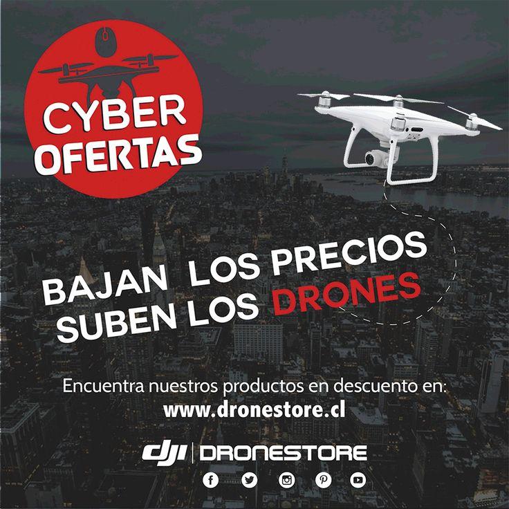 Llegaron las #CyberOfertas a DroneStore🤩‼️ Encuentra productos con #PreciosRebajados en nuestro sitio web 😮👉 http://bit.ly/DroneStoreCL