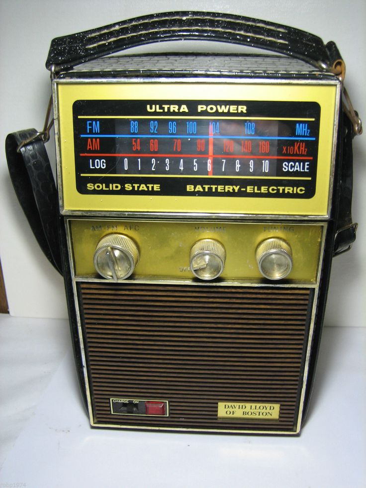 Details About Vintage Portable Ross Solid State Am  Fm Radio Ac  Dc In 2020