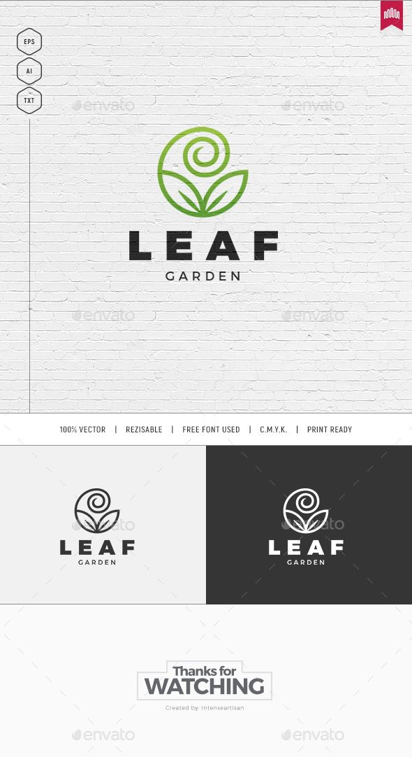Leaf Logo — Vector EPS #agency #logo template • Available here → https://graphicriver.net/item/leaf-logo/19467617?ref=pxcr